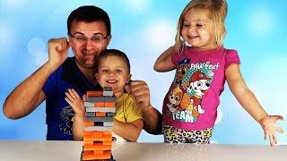ЧЕЛЛЕНДЖ Дженга Квейк! Супер Игра для Детей