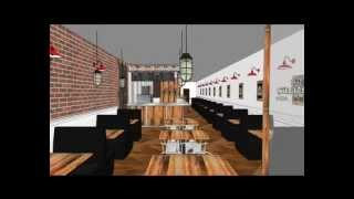 Organic Pizza House Interior Design - Projects A to Z