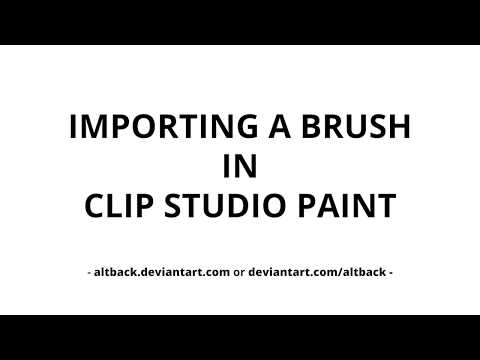 Importing A Brush In Clip Studio Paint Youtube