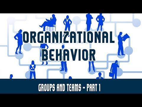 Management | Organizational Behaviour | Groups and Teams Part 1 - Introduction to Groups