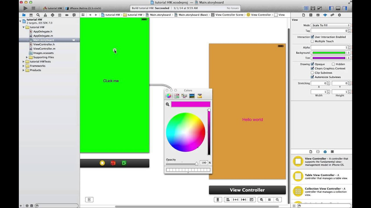 Background image xcode 6 - Xcode 5 View Controller Color Changing