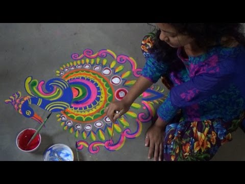How To Draw And Paint A Very Beautiful But Easy Peacock