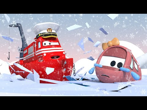 Troy de Trein Nederlands 🚄  Tina en Bobby zitten vast in het bevroren meer  🚄 Cartoons voor kinderen