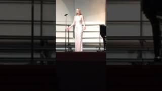 """Kathryn Kurtz singing """"Vergebliches Standchen"""" by Johannes Brahms"""