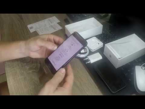 распаковка Смартфон Apple IPhone 7 256GB как новый (черный)