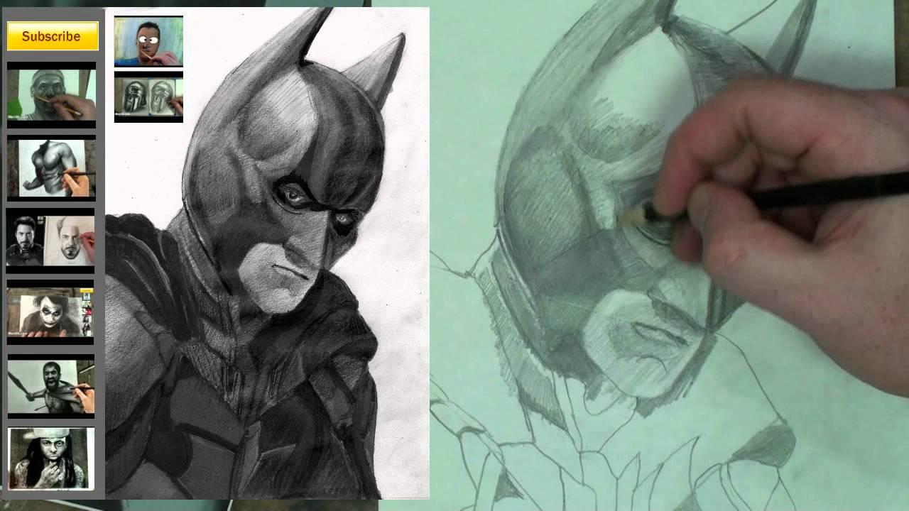 How to draw batman dark knight