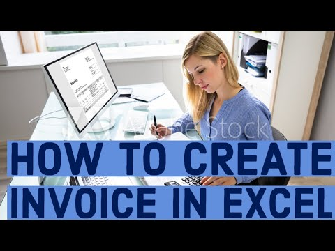 how to create invoice in excel youtube