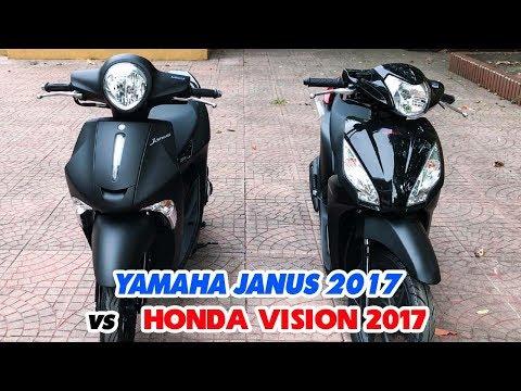 Honda Vision 2017 Và Yamaha Janus 2017 ▶ So Sánh Bản Đen Nhám!