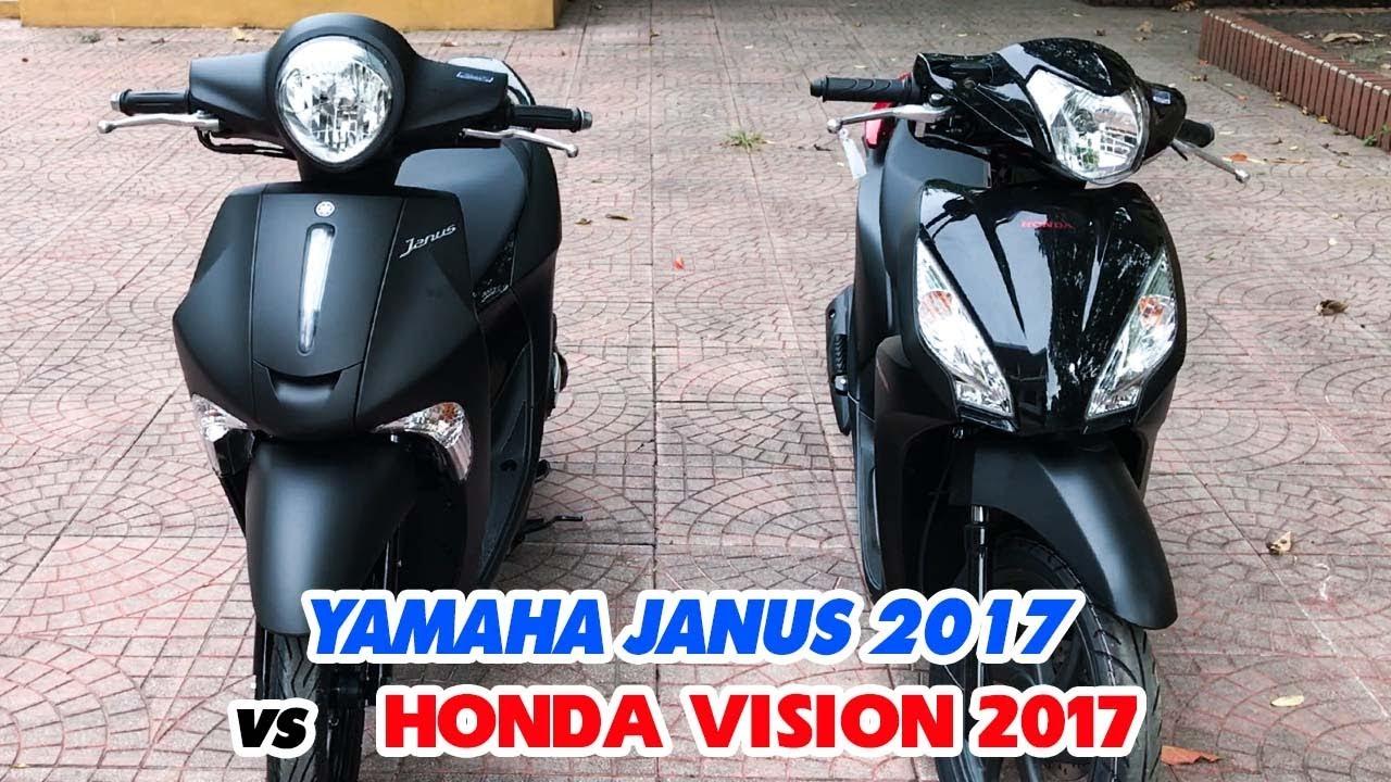 Honda Vision 2017 Và Yamaha Janus 2017 So Sánh Bản đen Nhám