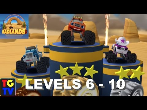 Blaze and the Monster Machines - Badlands Levels 6 - 10