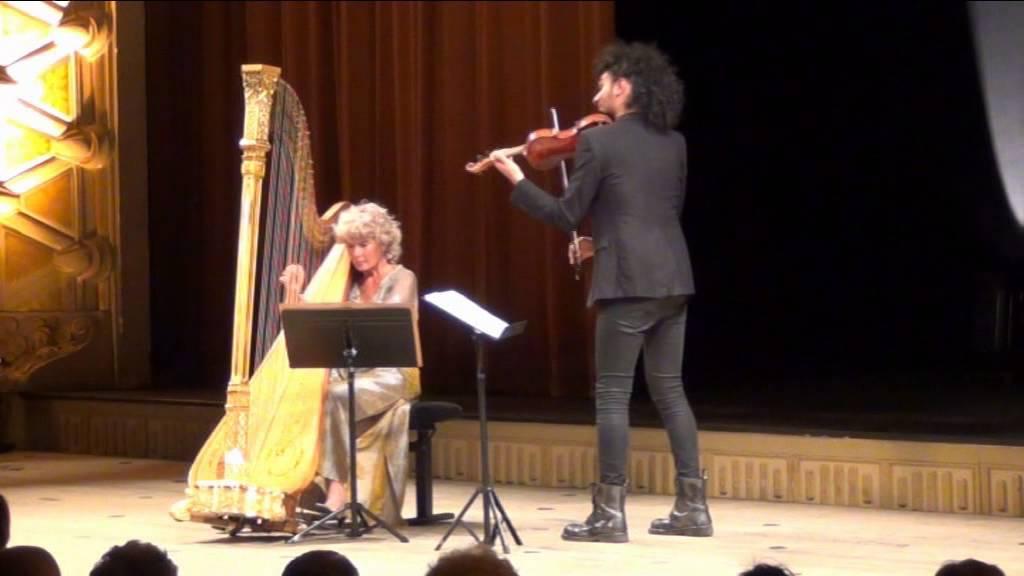 """Résultat de recherche d'images pour """"photos Marielle Nordmann et Nemanja Radulovic - Fantaisie pour violon et harpe de C.Saint Saëns"""""""