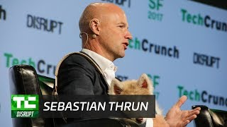 Sebastian Thrun and a Puppy Talk Education and Frontier Tech | Disrupt SF 2017