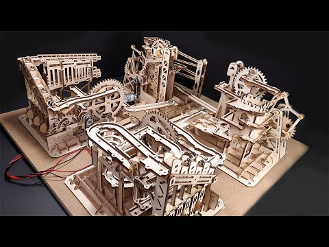 BIG MOTORIZED MARBLE RUN MACHINE