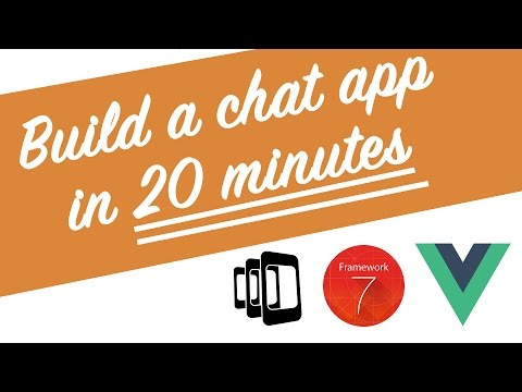 Build a chat app in 20 minutes with Vue.js, PhoneGap and Framework7 V1