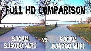 sJCAM SJ5000 Wifi VS SJ4000 Wifi / Comparison / Review / Side By Side