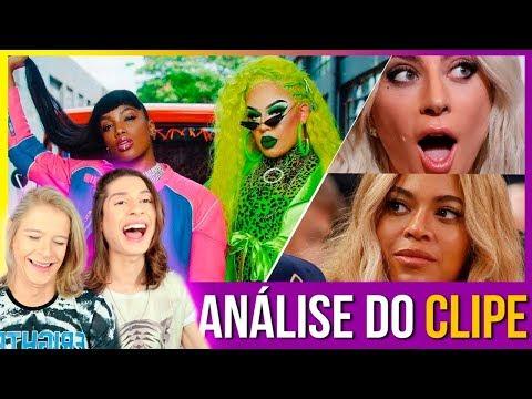 """REACT Lady Gaga e Beyoncé Analisam: """"Gloria Groove - YoYo ft IZA""""  Diogo Paródias"""