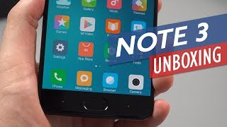 Xiaomi Mi Note 3 Unboxing & Hands-on Review (English)