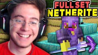 Büyülü Full Set Netherite Yaptım   Minecraft Hardcore 4