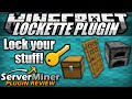 How to lock chests and doors in Minecraft with Lockette Plugin