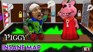 ROBLOX PIGGY INSANE CHALLENGE!  FGTeeV Fam vs. 1 Room, Every Door & Nowhere to Hide! Best Time Wins!