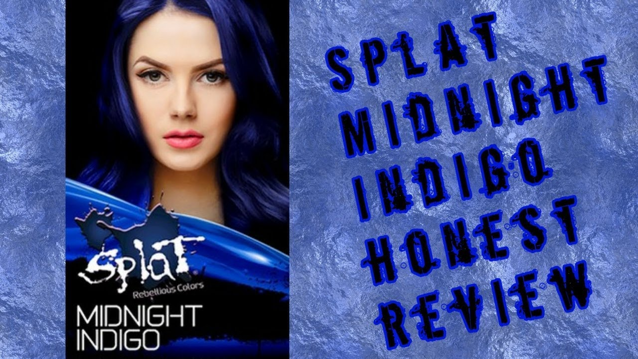 Splat Midnight Indigo Hair Dye Review On Dark Brown Hair Youtube