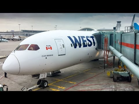WestJet 787-9 Dreamliner INAUGURAL FLIGHT - Toronto to Calga