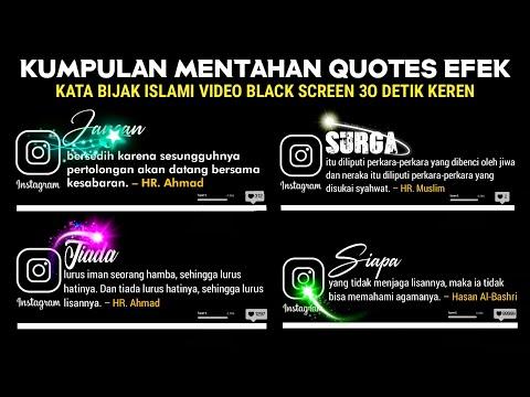 Bagi Mentahan Kata Islami Quotes Efek Keren | Black Screen Editing Video Literasi Di Kinemaster