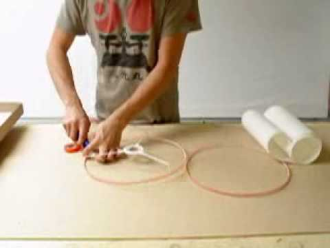 Rolled Edge Lampshade Tutorial Wmv Youtube