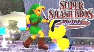 PICHU RETURNS TO SMASH BROS part 2 - let's play SUPER SMASH BROS MELEE