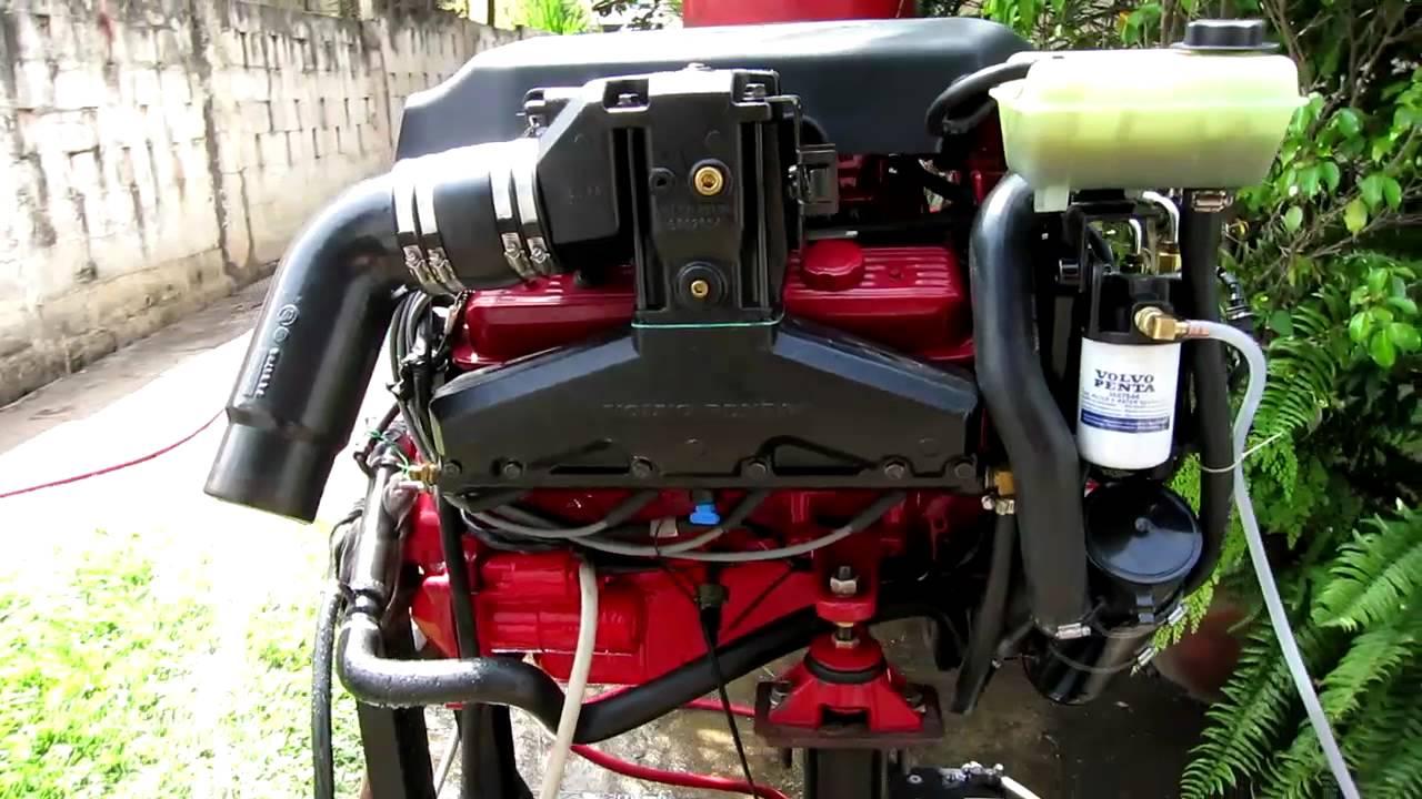 Bench Test Volvo Penta 50 OSi BF marine engine  YouTube