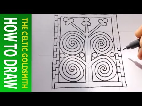 How to Draw Celtic Patterns 116 - Pictish Tree of Life Part 4of6
