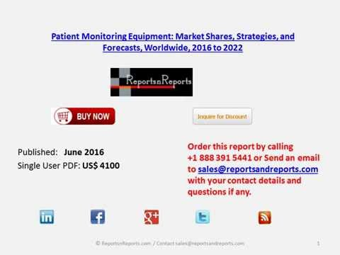 Patient Monitoring Market Products, Technology and Company Analysis and Forecasts to 2022