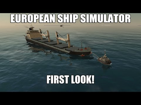 European Ship Simulator (Early Access) - First Look | Bulk Carrier In Storm!