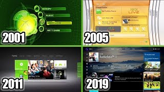 Xbox Dashboard Evolution 2001-2019 (Xbox Original, Xbox 360, One)