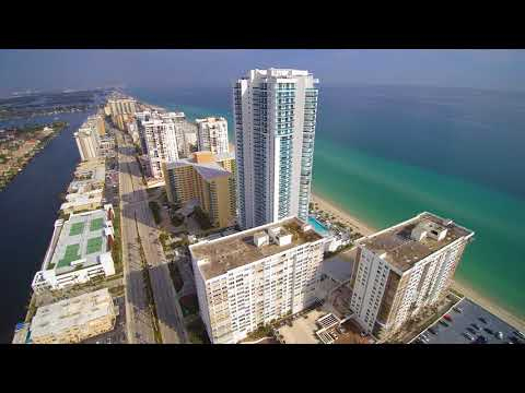Hallandale Beach, Florida (Drone) Video 4k