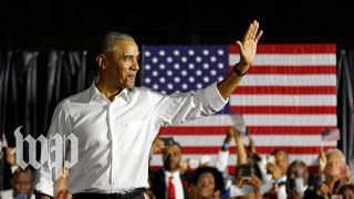 Obama campaigns in Chicago