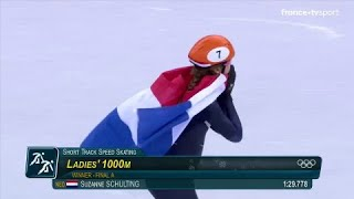 JO 2018 : Short Track - 1000 mètres Femmes. Suzanne Schulting remporte l'or olympique