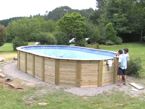 Wooden pools youtube for Wooden pool