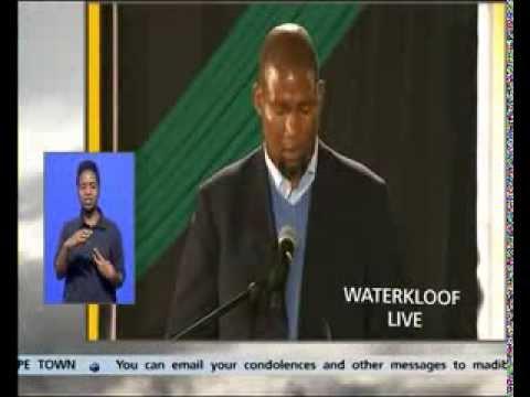 Mandla Mandela at Madiba's send-off at Waterkloof