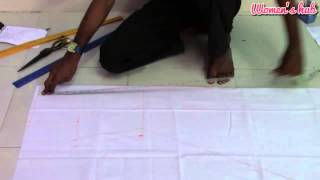 24 Panel Anarkali - 3. Marking and Cutting of Anarkali Inner Pattern