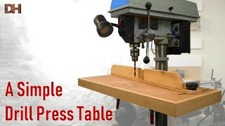 A Simple Drill Press Table
