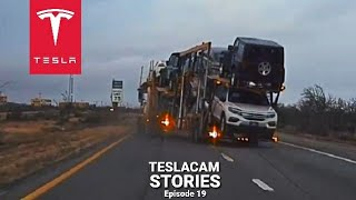 TESLA CAUGHT TRUCK CRASH | TESLACAM STORIES #19