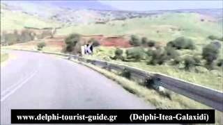 Delphi to Itea and Galaxidi (car camera)