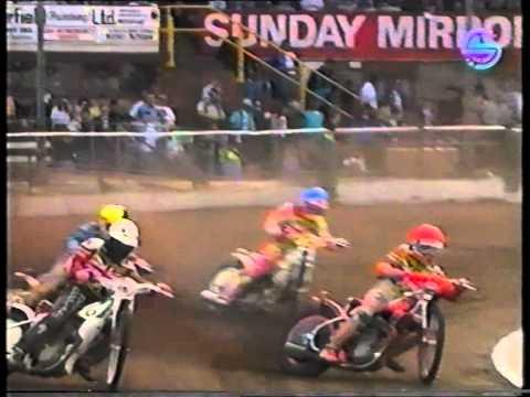 1991 British Final at Coventry Heat 9 Crash Davis, Knight, Wilson
