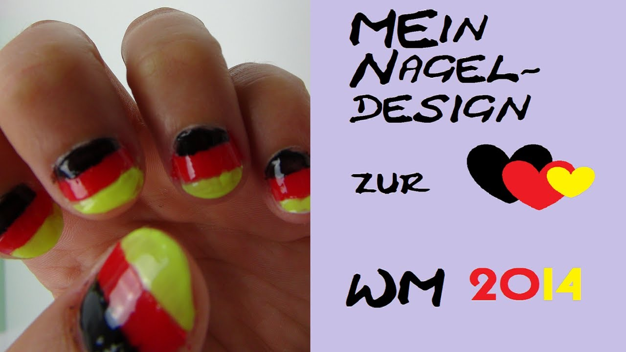 DIY Nagellack Design für die EM/ Deutschland - Fußball - Fans ...