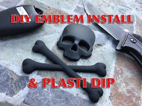 DIY Emblem Install and Plasti Dip