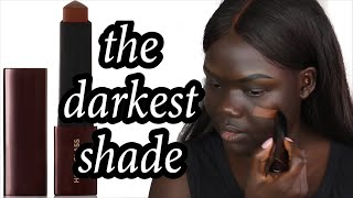Hourglass Vanish Seamless Finish Foundation Stick Review || NYMA TANG #thedarkestshade