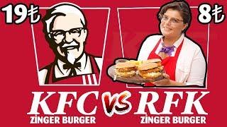 KFC Zinger Burger (Challenge) Meydan Okuması | Evde Daha Ucuz ve Hızlı Zinger Burger Tarifi