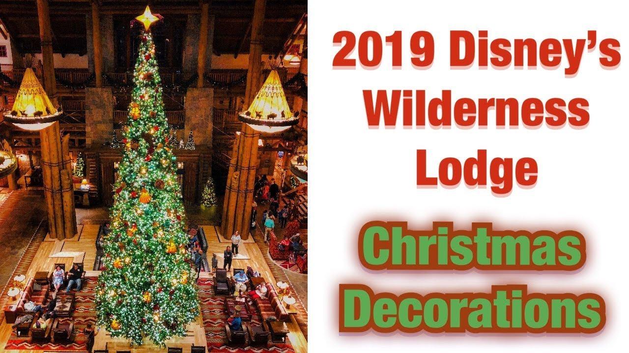 Wilderness Lodge - 2019 Christmas Decor