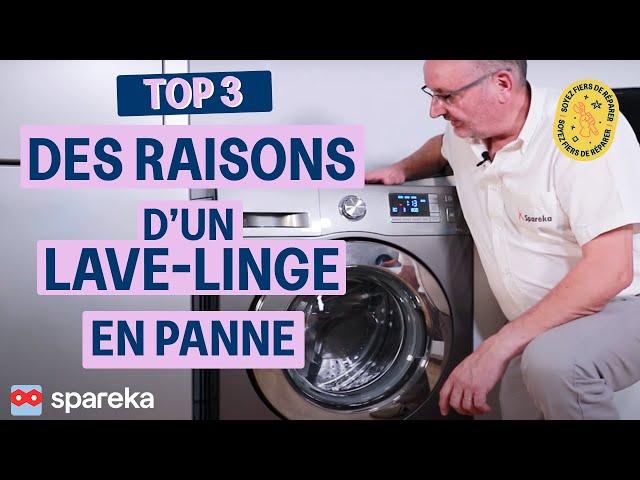 Les 3 raisons pour lesquelles un lave-linge ne démarre plus
